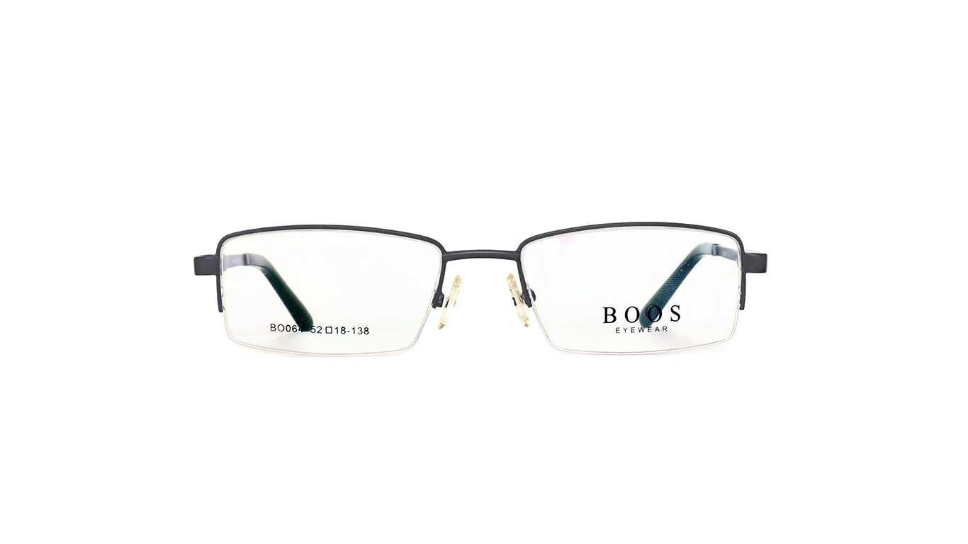 Half Rimless Metal BO064 - Gray Black
