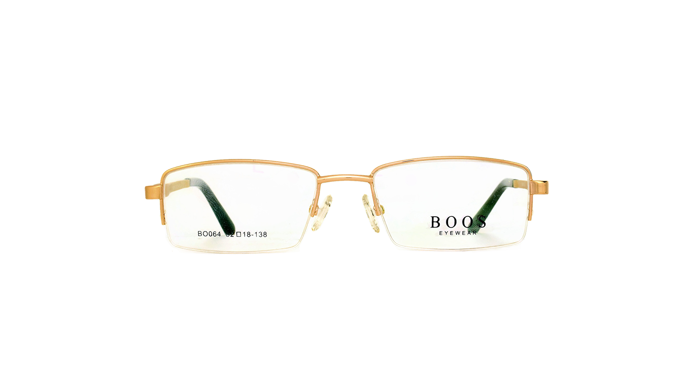 Half Rimless Metal BO064 - Gold Gold